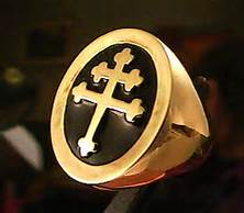 The Cross of Lorraine aka the Patriarchal Cross: The Double Cross associated with the Knights Templar Crusaders
